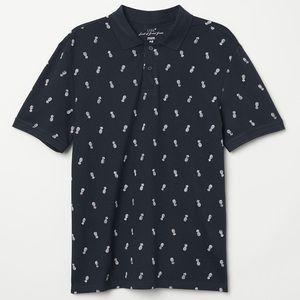 Men's Pineapple Print Polo shirt